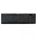 KeyBoard USB, A4 Tech KD-600, slim, Multimedia 10 hotkeys,black