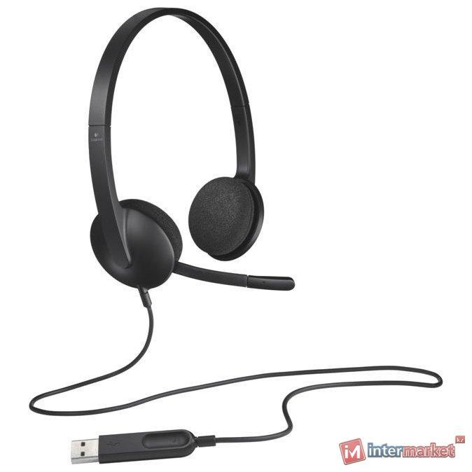 L981-000475 LOGITECH Corded USB Headset H340 - EMEA - BLACK