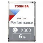 """Жесткий диск HDD 6Tb TOSHIBA X300 SATA 6Gb/s 7200rpm 256Mb 3,5"""" HDWR460UZSVA, Разработан специально для вашего рабочего или игрового компьютера,"""